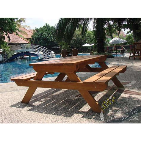 hardwood picnic bench the comfort hardwood picnic table and bench breathe azores