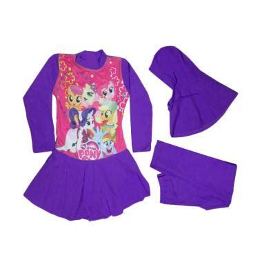Baju Muslim Anak Perempuan Pony Pbm182 jual rainy collections karakter my pony baju renang anak muslim ungu tua 5 10 tahun