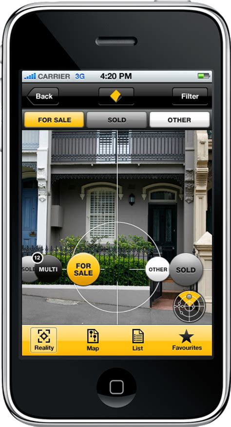 House Buying App Cba Combine Realestate Au Data Into Iphone Augmented Reality