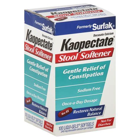 Non Gelatin Stool Softener by Kaopectate Stool Softener Liqui Gels Softgels 100