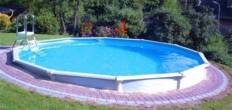 Landscape Timbers Around Above Ground Pool Small Above Ground Fiberglass Swimming Pools Designs Ideas