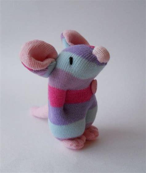 sock plush plush mouse sock animal miniature sock doll by