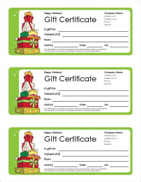 excel gift certificate template gift certificate templates free
