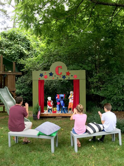 backyard theatre our diy kids backyard theater the home designer co