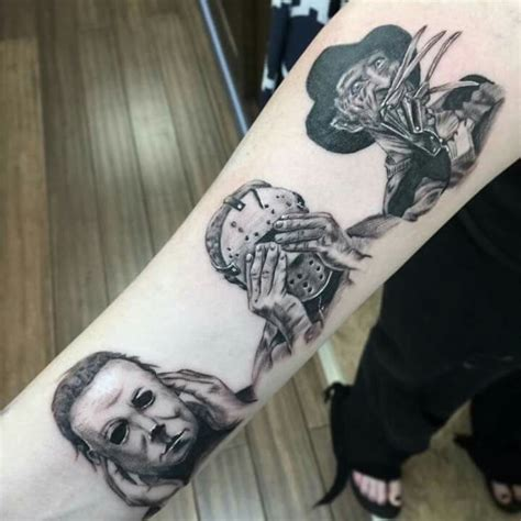 small horror tattoos hear no evil see no evil speak no evil villain