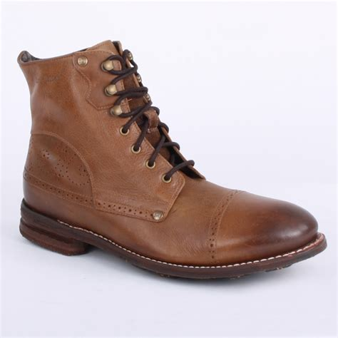 caterpillar murray mens laced leather ankle boots shoes