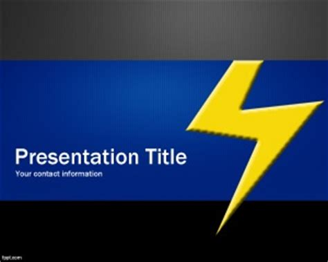 thunder powerpoint template is a free ppt template with