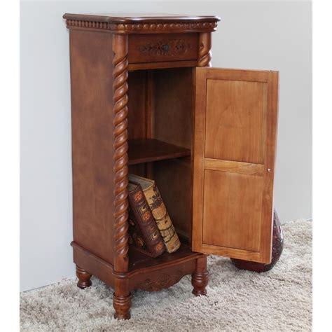 tall accent table with drawer 1 drawer tall accent table in dual walnut stain 3809