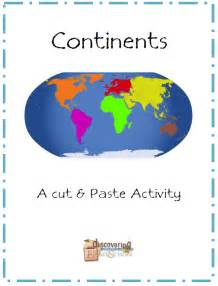 Continents cut and paste discovering homeschool social studies