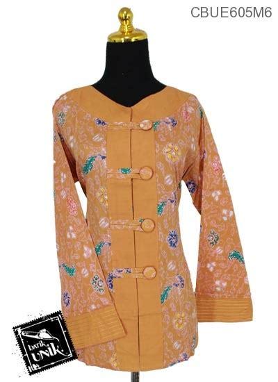 Baju Atasan Bunga Kombinas Warna baju batik aida motif warna warni bunga blus lengan