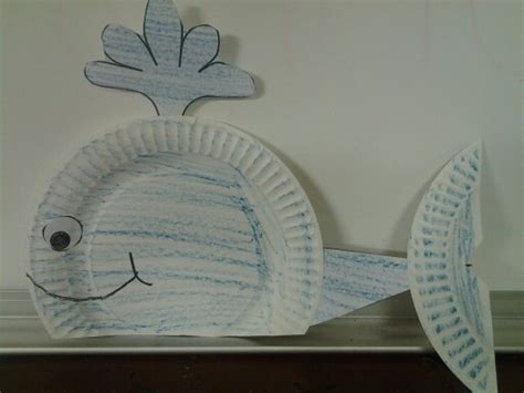 Paper Plate Whale Craft - whale craft student crafts crafts whale