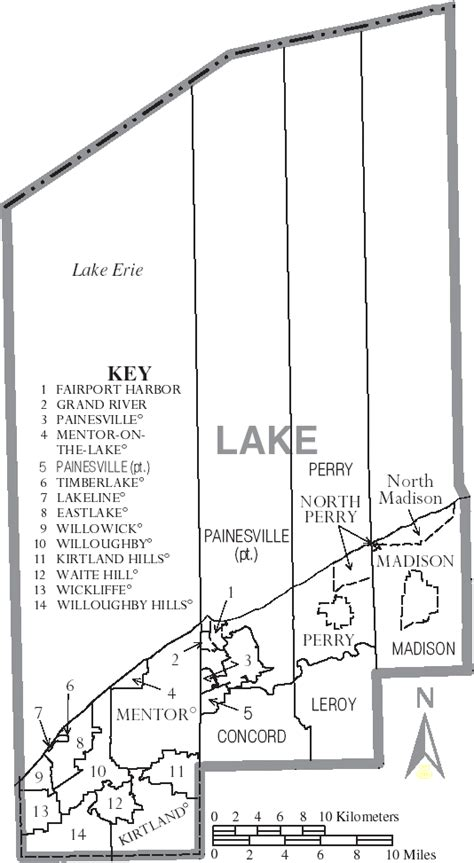 lake county map file map of lake county ohio with municipal and township