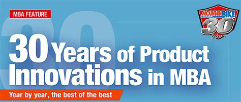 Best Mba For Innovation by 30 Years Of Product Innovations In Mba Mountain Bike