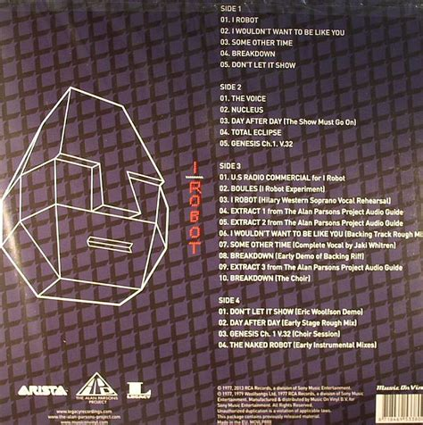 The Alan Parsons Project I Robot Vinyl Piringan Hitam 1 alan parsons project i robot legacy edition remastered