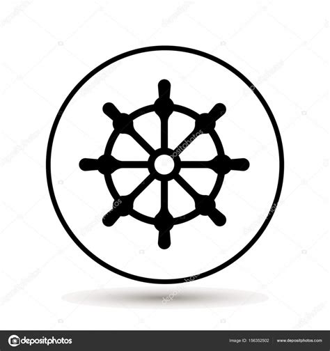boat steering wheel icon ship wheel boat steering wheel icon vector illustration