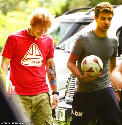 ed sheeran one direction one direction and ed sheeran enjoy a game of football as