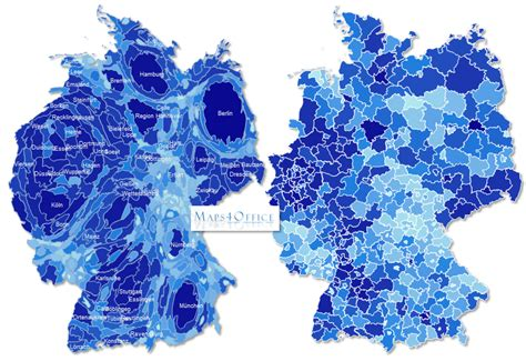 germany map districts powerpoint  editable vector map