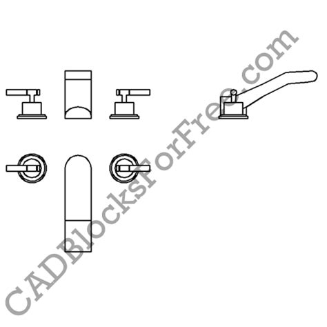 Faucet Cad Block by Cadblocksforfree Taps Faucets Added Total Uploads