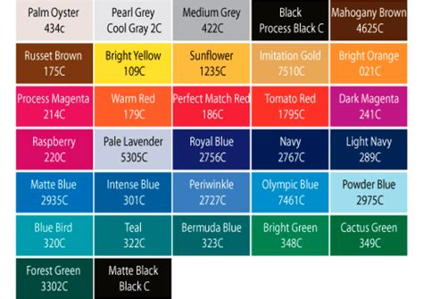 pantone color names 8 best images of pantone color chart numbers name