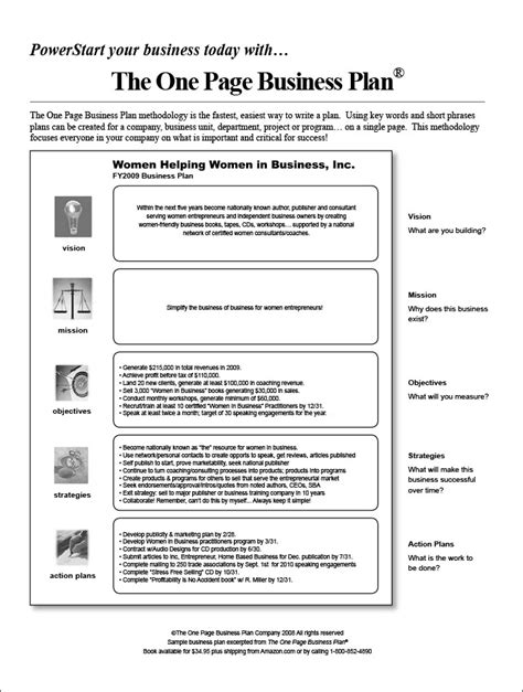 word document business plan template one page business plan template peerpex
