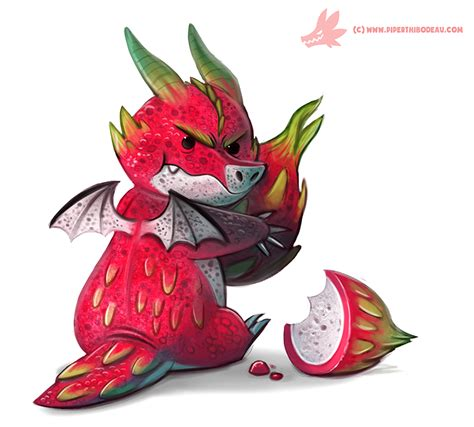 Hysteria Dragonberry Gum daily paint 1081 fruit keeper by cryptid creations on deviantart