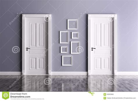 Interior With Two Doors And Frames Stock Illustration Interior Doors And Frames