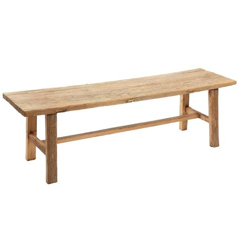 bench hiring rustic elm wood bench four available for sale at 1stdibs