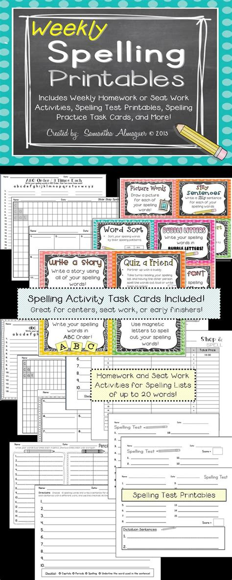 Spelling Cards Template by 1000 Ideas About Spelling Activities On