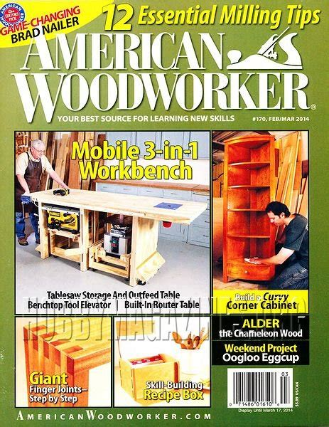 american woodworker back issues american woodworker 170 february march 2014 187 hobby