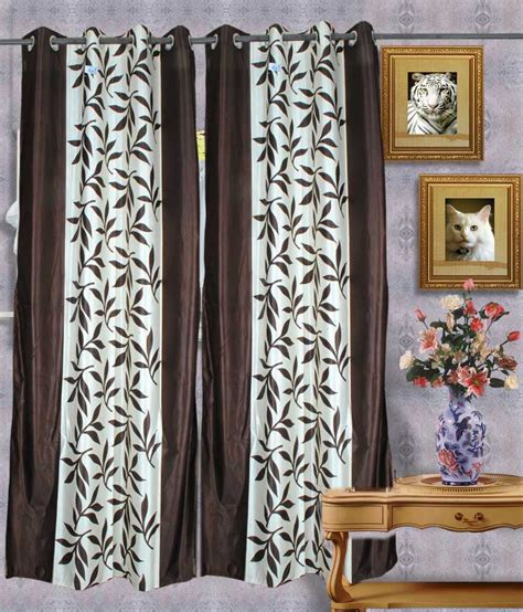 brown door curtain handloomvilla brown polyester door curtain buy