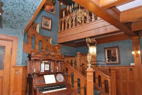 bed and breakfast milwaukee wi view of staircase in foyer from library picture of