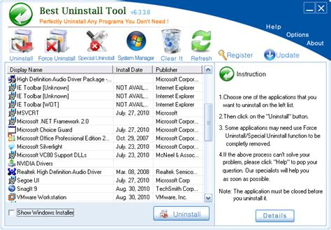 best uninstall tool free uninstall demo download screenshot review downloads of shareware best uninstall tool