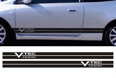 Honda Accord Sticker by Franjas Sticker Vtec Fits Honda Civic Accord Side Stripes