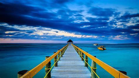 wallpaper hd 1920x1080 ocean blue ocean underneath wooden pier wallpaper walldevil