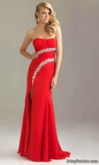 red long prom dresses 2017 2018 b2b fashion