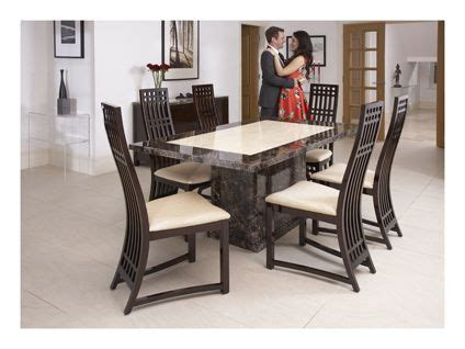 Dining Table Sets Deals Caesar Fixed Dining Table And 6 Chairs Other House Ideas Top Deals Tops And