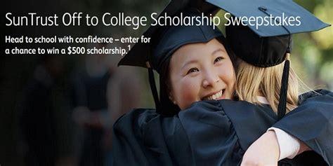 College Scholarship Sweepstakes - suntrust off to college scholarship sweepstakes sweepstakesbible