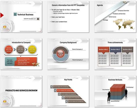 powerpoint technical presentation templates powerpoint technical business intro template