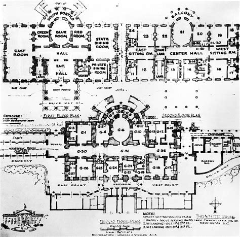 Floor Plan Of The White House | residence white house museum
