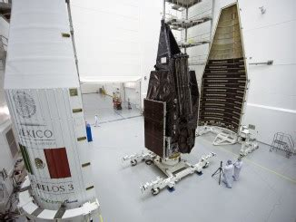 photos: shroud installed around satellite quartet