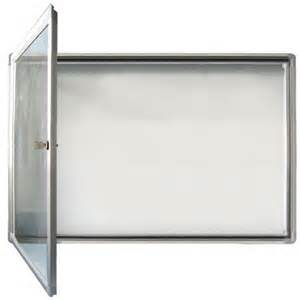 Outdoor Display Cabinets Uk Wall Mounted Outdoor Display 6a4 White Hill Direct