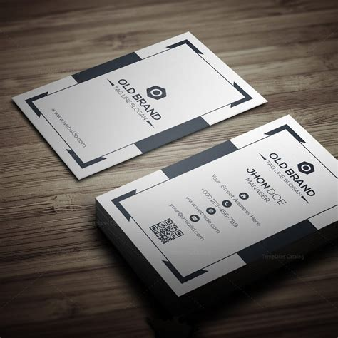 business cards templates one classic vertical business card template 000271 template