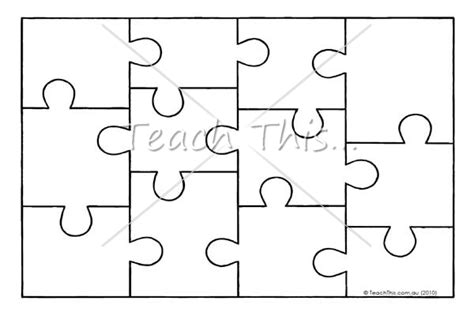 puzzle template jigsaw puzzle template printable resources