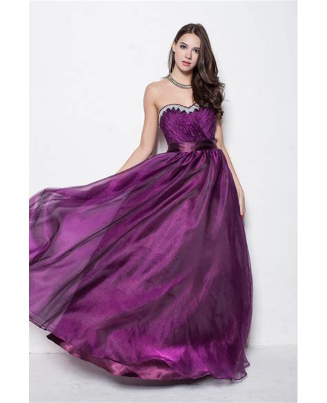 Purple Strapless Dress purple strapless gown dress for homecoming
