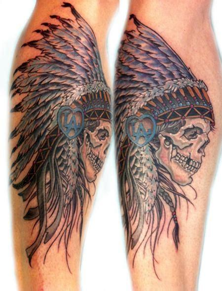 native american skull tattoos 100 american tattoos
