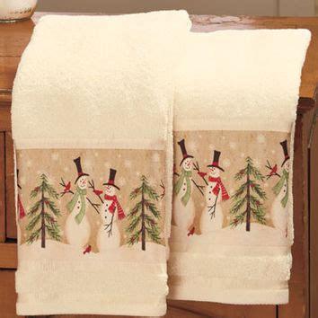christmas towels bathroom christmas bath towels linda spivey set of 2 snowmen hand