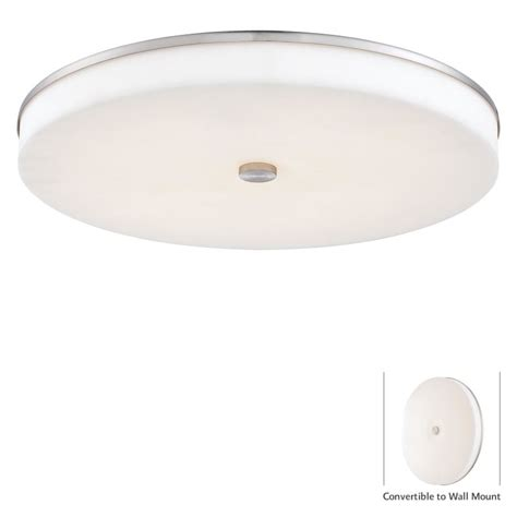 Kovacs L by Kovacs P950 084 L Brushed Nickel 1 Light Led Flush Mount Ceiling Fixture From The U H O