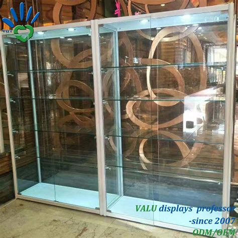 China Shop Used Lockable Glass Doors Ornaments Glass