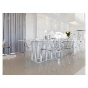 gap interiors low angle modern dining table with clear