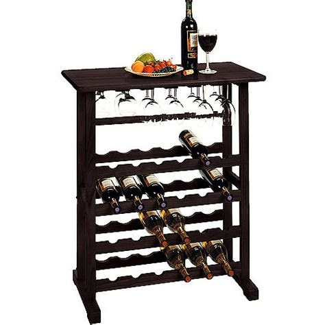 Wine Rack Walmart by Vinny 24 Bottle Wine Rack Finishes Walmart